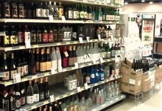 Shochu Aisle at Mitsuwa