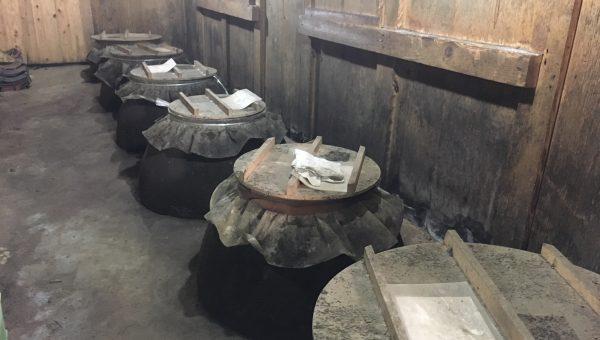 old aging pots at Hayashi